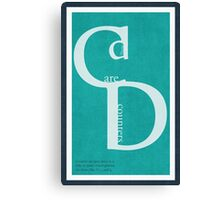 Type Poster - Counter Canvas Print