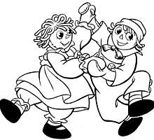 Raggedy Ann & Andy Dancing by redbot