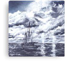 sail boat oil painting art print Canvas Print