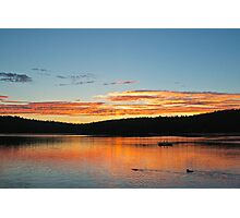 Loon Sunset Photographic Print