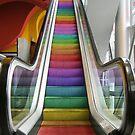 Rainbow Escalator by Kitty Bitty
