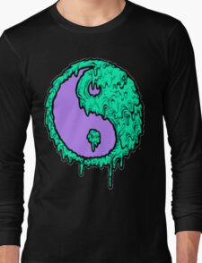 Melting Peace Sign Long Sleeve T-Shirt