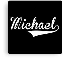 Baseball Style Michael (White) Canvas Print