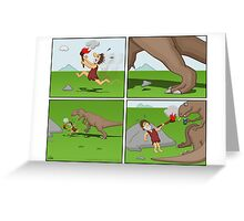 Prehistoric Cigarette Lighter Greeting Card