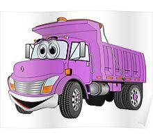 Purple Cartoon Dump Truck Poster