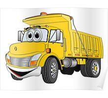 Yellow Cartoon Dump Truck Poster