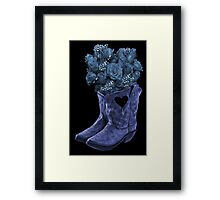 ☆ ★ ☆EVEN COWGIRLS GET THE BLUES -SOMETIMES-(AND COWBOYS 2) PICTURE/CARD ☆ ★ ☆¸ Framed Print
