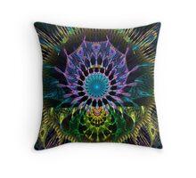 Peacock Dreamcatcher Throw Pillow