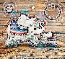 Lucky Star Elephants by © Karin (Cassidy) Taylor