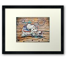 Lucky Star Elephants Framed Print
