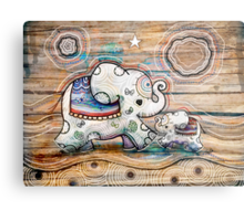 Lucky Star Elephants Metal Print