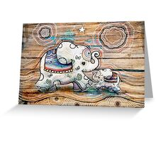 Lucky Star Elephants Greeting Card
