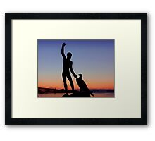 Ganymede at sunset Framed Print