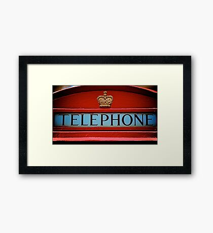 London's iconic phone box Framed Print