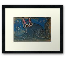 Wave Kitty Framed Print