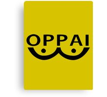 One Punch Man Saitama Oppai Cosplay Japan Anime T Shirt Canvas Print