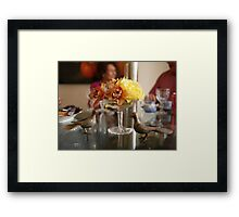 The Luncheon Table Framed Print