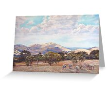 Strathbogie Summer Landscape  Greeting Card