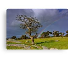"""A Rainbow And The Tree"" Canvas Print"