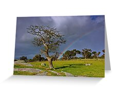 """""""A Rainbow And The Tree"""" Greeting Card"""