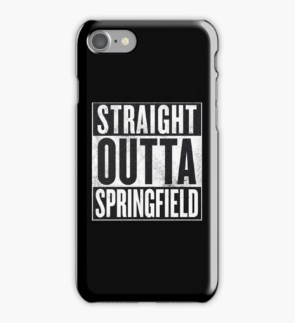 Straight Outta Springfield - The Simpsons iPhone Case/Skin