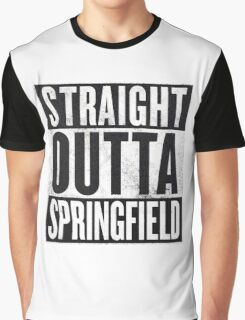 Straight Outta Springfield - The Simpsons Graphic T-Shirt