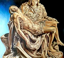 Michelangelo's Pieta by Hidemi Tada