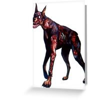 Zombified Dobermann Greeting Card