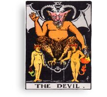 Tarot Devil Canvas Print