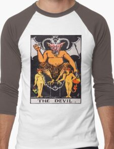 Tarot Devil Men's Baseball ¾ T-Shirt