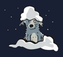 dog in the snow Kids Tee