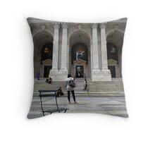 New York City Public Library Throw Pillow