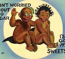 Vintage Black Americana Postcard-Not socially correct by Tastefullytacky