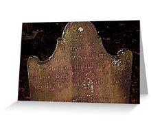 John Van Tassell's Headstone, Sleepy Hollow Cemetery Greeting Card