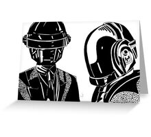 Daft punk sharpie drawing Greeting Card