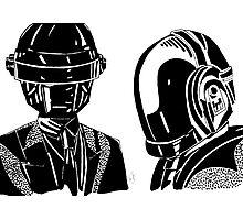 Daft punk sharpie drawing Photographic Print