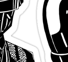Daft punk sharpie drawing Sticker
