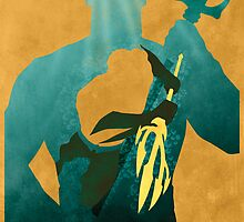 JLA: Aquaman Minimalist Comics Justice League of America by markitzero