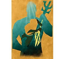 JLA: Aquaman Minimalist Comics Justice League of America Photographic Print