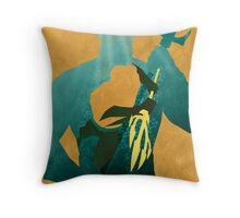 JLA: Aquaman Minimalist Comics Justice League of America Throw Pillow