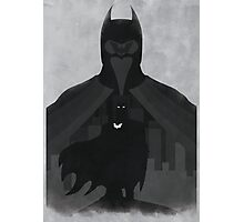 JLA: Batman Minimalist Comics Justice League of America Photographic Print