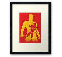 JLA: Flash Minimalist Comics Justice League of America Framed Print