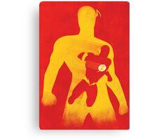 JLA: Flash Minimalist Comics Justice League of America Canvas Print