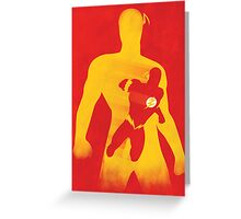 JLA: Flash Minimalist Comics Justice League of America Greeting Card