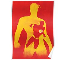 JLA: Flash Minimalist Comics Justice League of America Poster