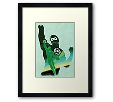 JLA: Hal Jordan Green Lantern Minimalist Comics Justice League of America Framed Print