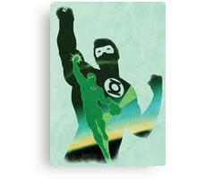 JLA: Hal Jordan Green Lantern Minimalist Comics Justice League of America Canvas Print
