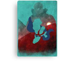 JLA: Martian Manhunter Minimalist Comics Justice League of America Canvas Print