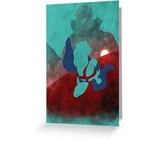 JLA: Martian Manhunter Minimalist Comics Justice League of America Greeting Card
