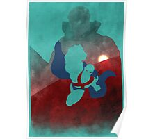 JLA: Martian Manhunter Minimalist Comics Justice League of America Poster